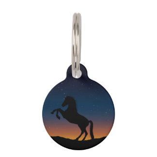 Horse Animal Nature Pet Name Tag