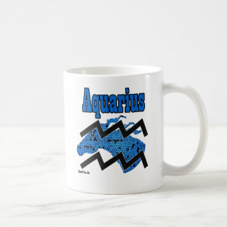 Horse Aquarius Zodiac Coffee Mug - Blue
