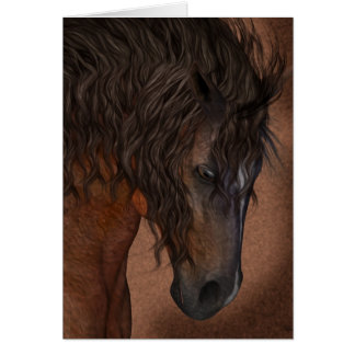 Horse Art Greeting Card, Blank Equine Card