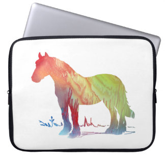 Horse art laptop sleeve