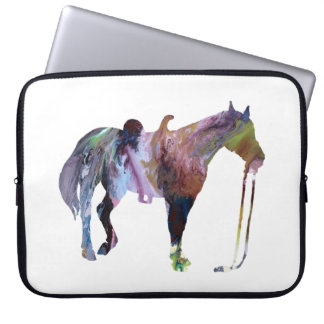 Horse art laptop sleeve