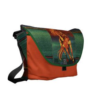 Horse Art Messenger Bag - Fire Horse