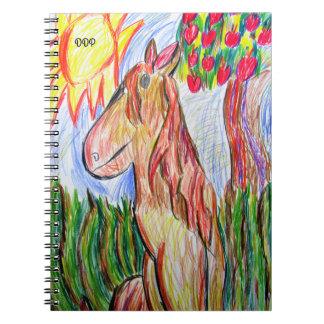 horse art three note books
