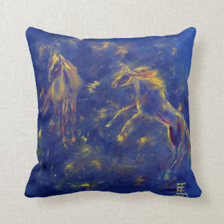 Horse art throw cushion