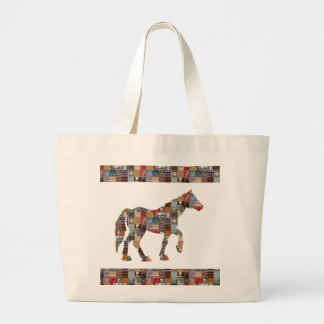 HORSE Artistic Collection Patches FUN NVN477 gifts Jumbo Tote Bag