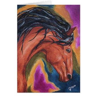 Horse Artsy Equestrian Greeting Card