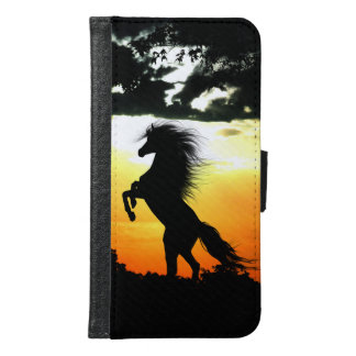 Horse at sunset samsung galaxy s6 wallet case