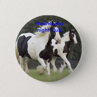Horse badge 2 inch round button