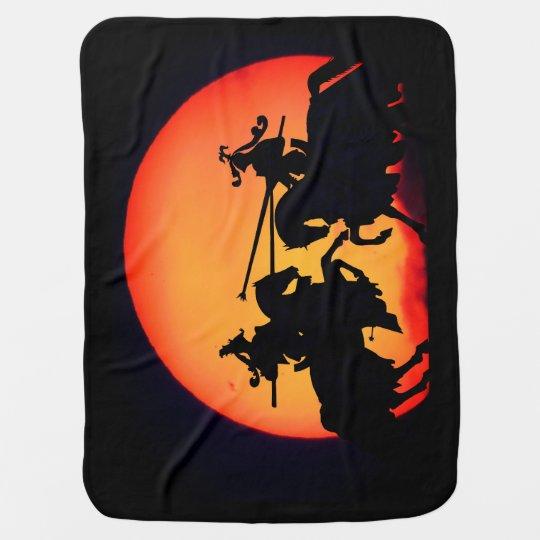Horse Battle Stroller Blanket