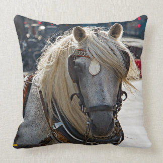 Horse blonde from Malaga Throw Pillow
