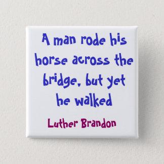 Horse Bridge 2 Inch Square Button