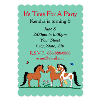 Horse buddies Customizable Party Invitations