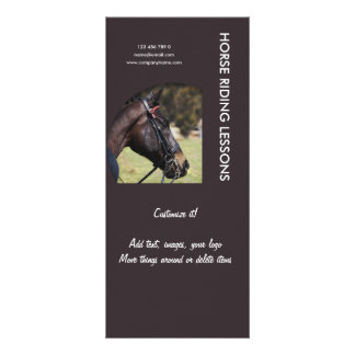 Horse business marketing full colour rack card