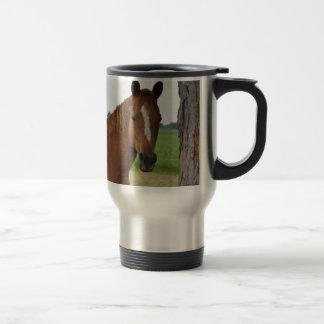 Horse by Tree Travel Mug