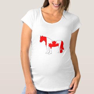 Horse Canada Maternity T-Shirt