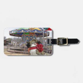 Horse Carousel Luggage Tag
