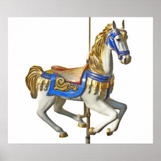 Horse carousel poster