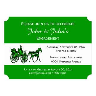 "Horse carriage formal celebration GW 5"" X 7"" Invitation Card"