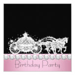 Horse Carriage Pink Princess Birthday Party