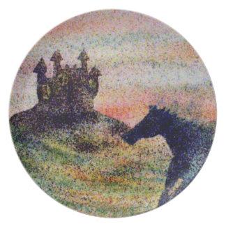 Horse & Castle Melamine Plate