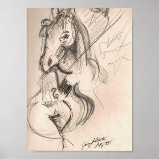 Horse Cello Art Poster