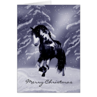 Horse Christmas Card - Digital Painting - Equine