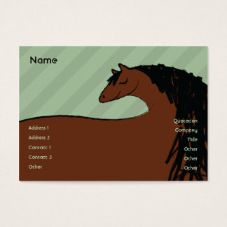 Horse - Chubby Business Card