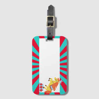 horse - circus theme luggage tag