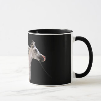 horse collection. arabian grey mug