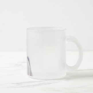 horse collection. arabian white frosted glass coffee mug