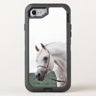 horse collection. arabian white OtterBox defender iPhone 8/7 case