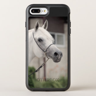 horse collection. arabian white OtterBox symmetry iPhone 7 plus case