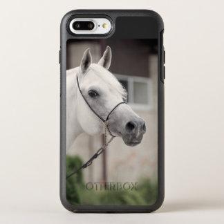 horse collection. arabian white OtterBox symmetry iPhone 8 plus/7 plus case