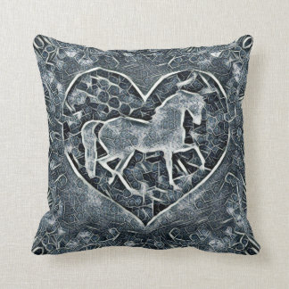 Horse Corral Throw Pillow