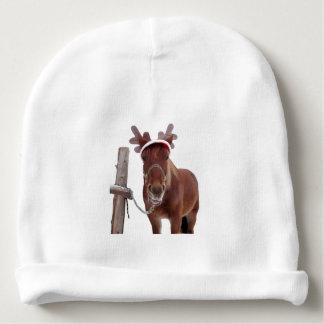 Horse deer - christmas horse - funny horse baby beanie