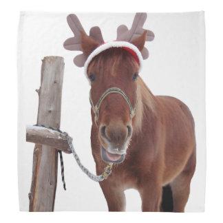 Horse deer - christmas horse - funny horse bandana