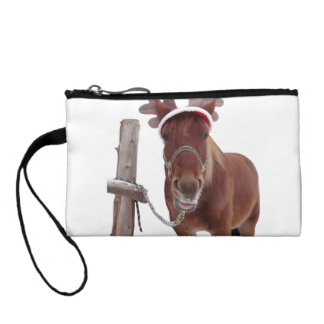 Horse deer - christmas horse - funny horse coin purse