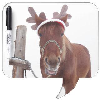 Horse deer - christmas horse - funny horse dry erase board