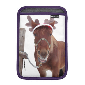 Horse deer - christmas horse - funny horse iPad mini sleeve