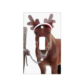Horse deer - christmas horse - funny horse light switch cover