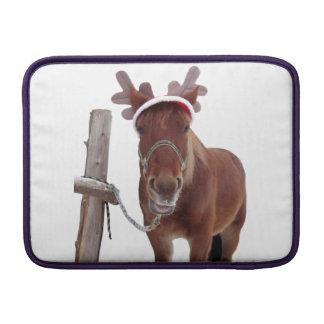 Horse deer - christmas horse - funny horse MacBook sleeve