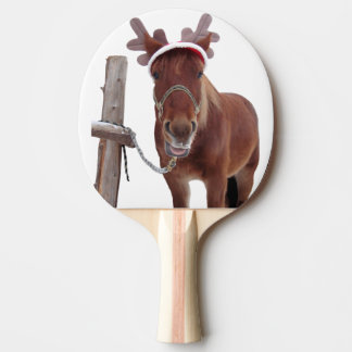 Horse deer - christmas horse - funny horse ping pong paddle