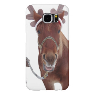 Horse deer - christmas horse - funny horse samsung galaxy s6 cases