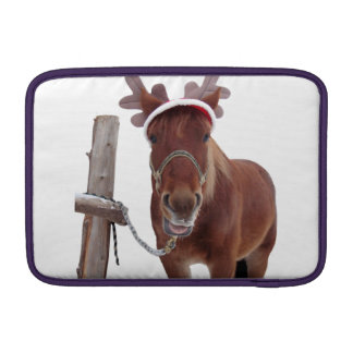 Horse deer - christmas horse - funny horse sleeve for MacBook air