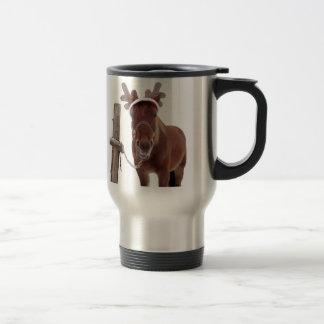 Horse deer - christmas horse - funny horse travel mug