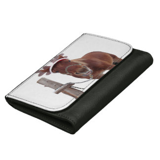 Horse deer - christmas horse - funny horse wallets for women