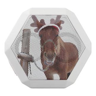 Horse deer - christmas horse - funny horse white bluetooth speaker