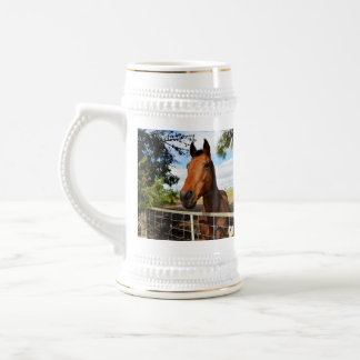 Horse_Delights,_White_Beer_Stein_Mug. Beer Stein