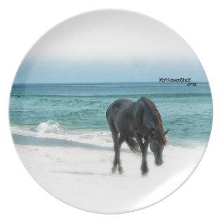 Horse design melamine plate, equestrian, plates