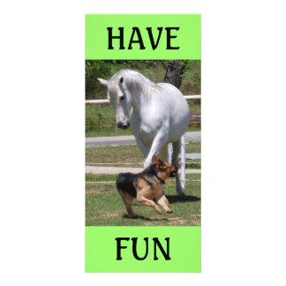HORSE & DOG PLAY CUSTOM RACK CARDS